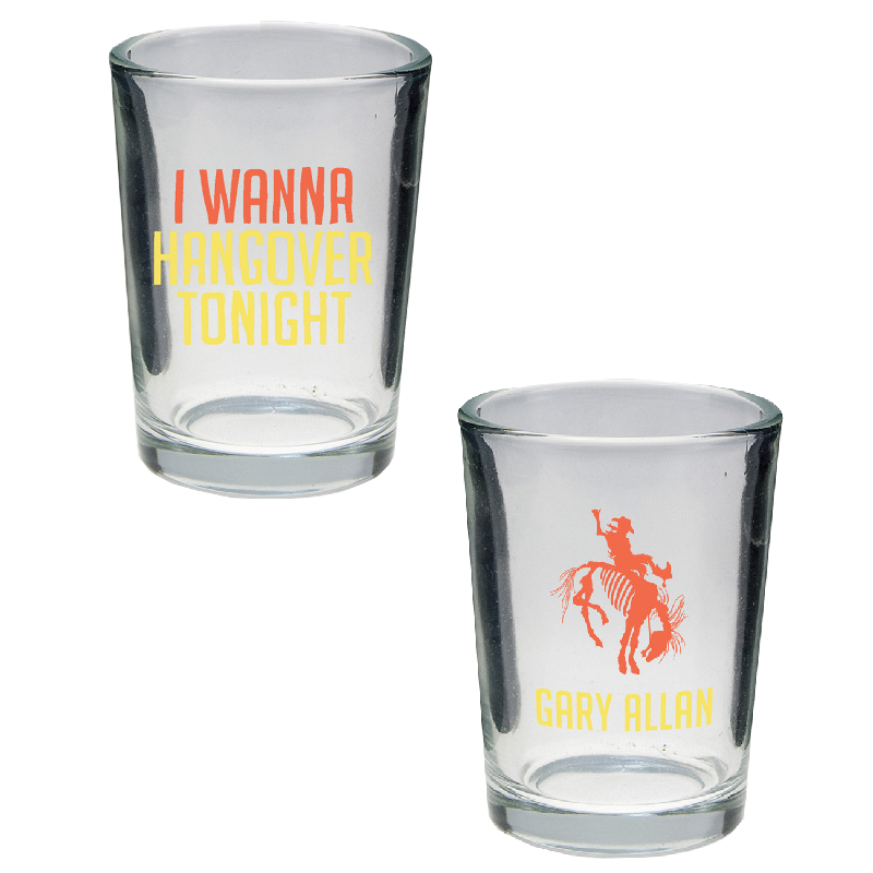 Gary Allan I Wanna Hangover Double Shot Glass
