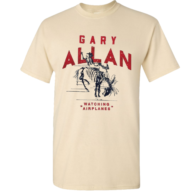 Gary Allan Natural Watching Airplanes Tee
