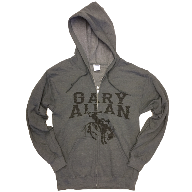 Gary Allan Dark Heather Zip Up Hoodie