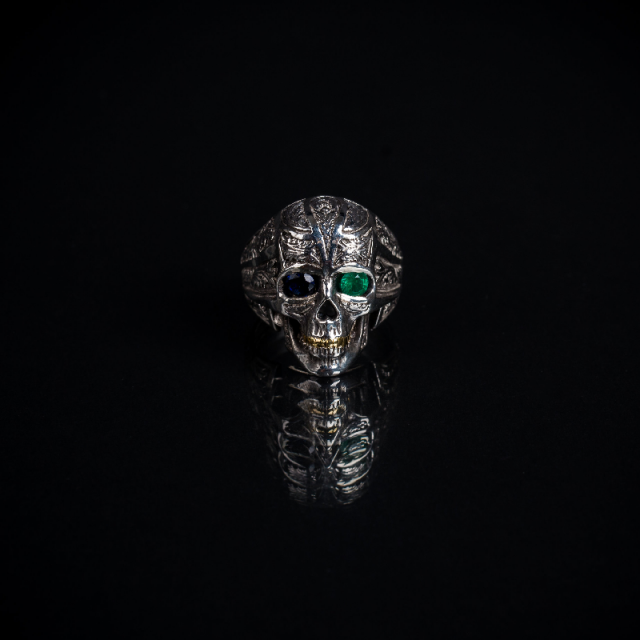 Gary Allan Two Tones Sterling Silver Skull Ring