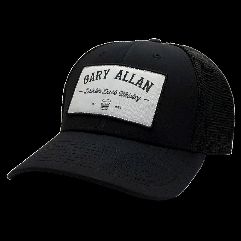 Gary Allan Drinkin' Dark Whiskey Black Ballcap