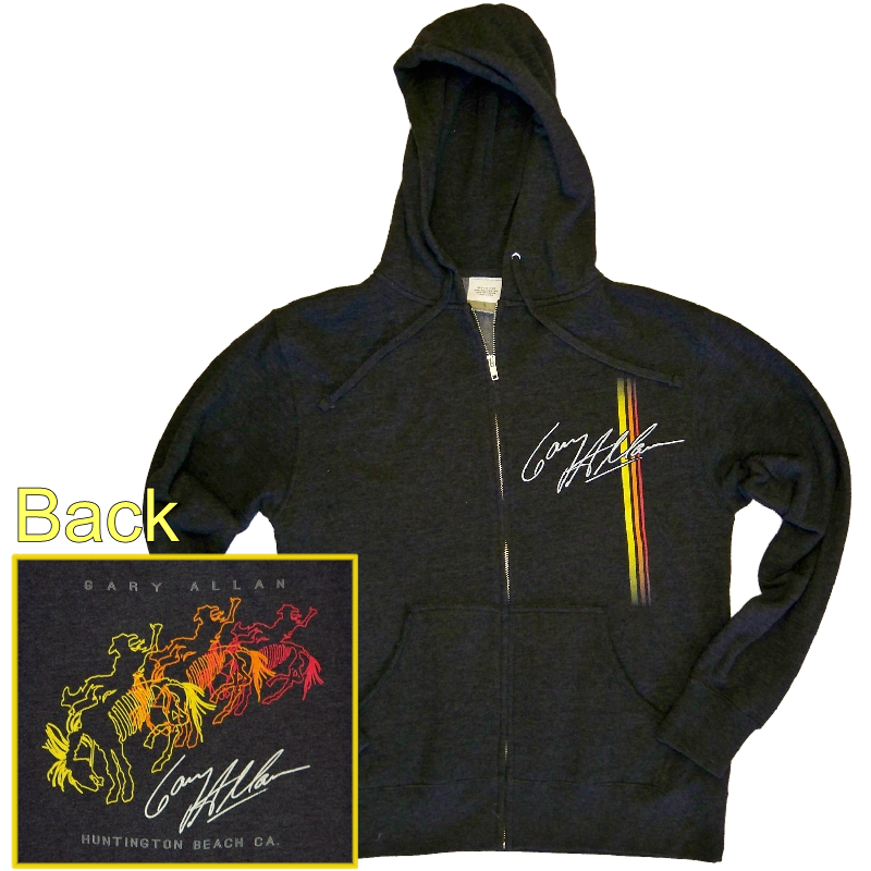 Gary Allan Heather Charcoal Hoodie