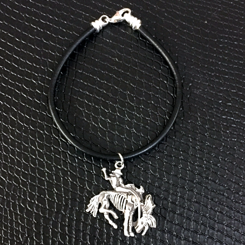 Gary Allan Black Leather Bracelet