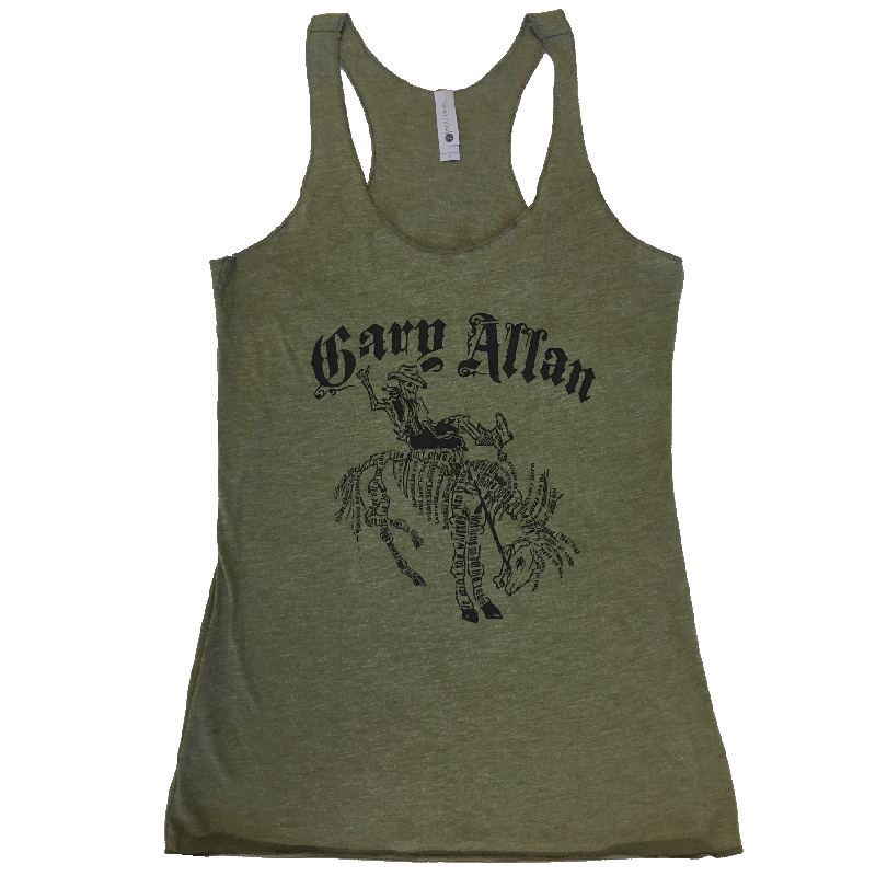 Gary Allan Ladies Military Green Tank- Song Titles