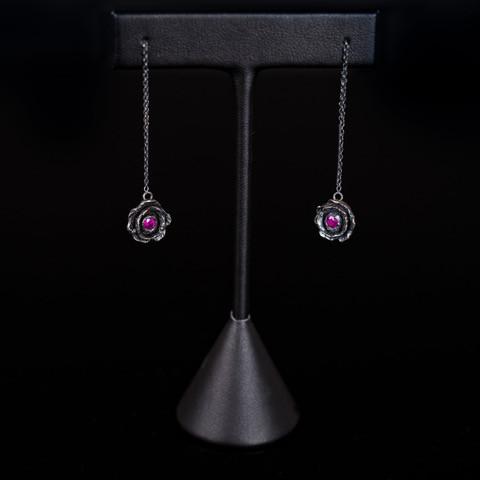 Gary Allan Rose Threader Earrings