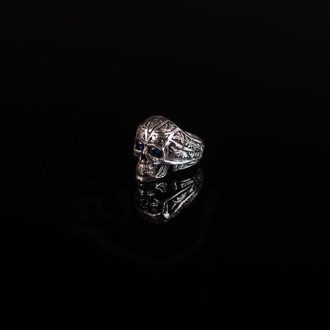 Gary Allan Sapphire Skull Ring