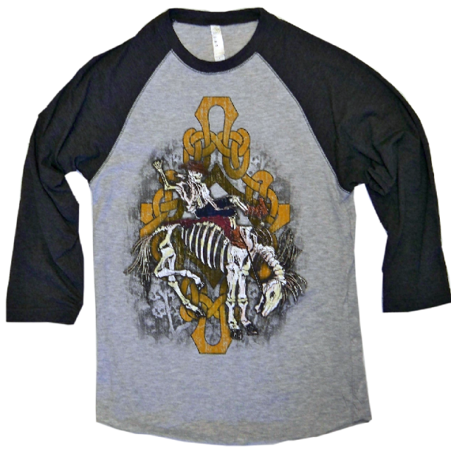 Gary Allan Vintage Heather and Smoke Baseball Tee