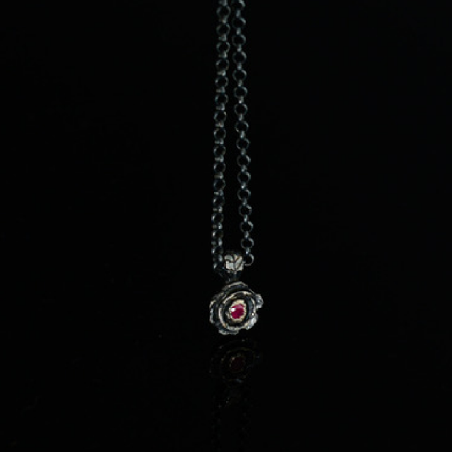 Gary Allan Black Rose Pendant w/ Chain