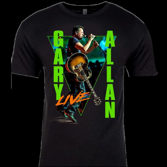 Gary Allan 2020 Black Live Tour Tee