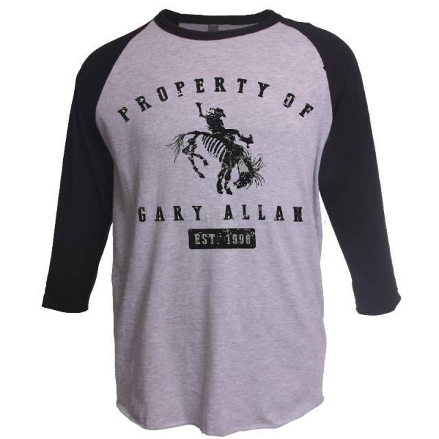Gary Allan Ash and Black Raglan Tee- The One