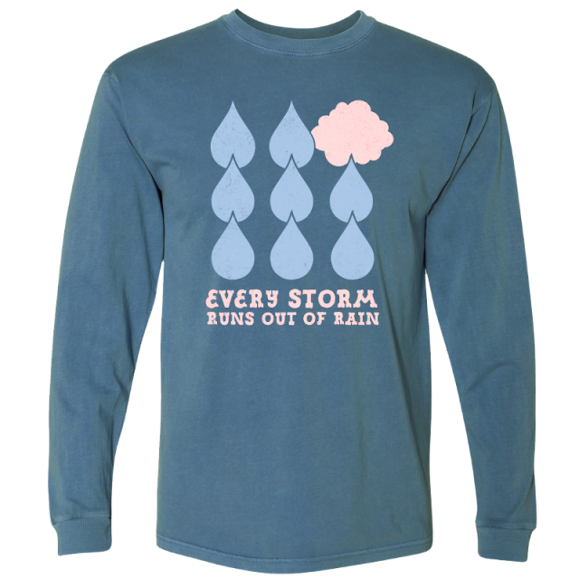 Gary Allan Long Sleeve Blue Jean Tee- Every Storm Runs Out of Rain