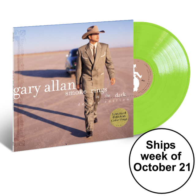 Gary Allan LIMITED EDITION Green Vinyl- Smoke Rings in the Dark- PRESALE