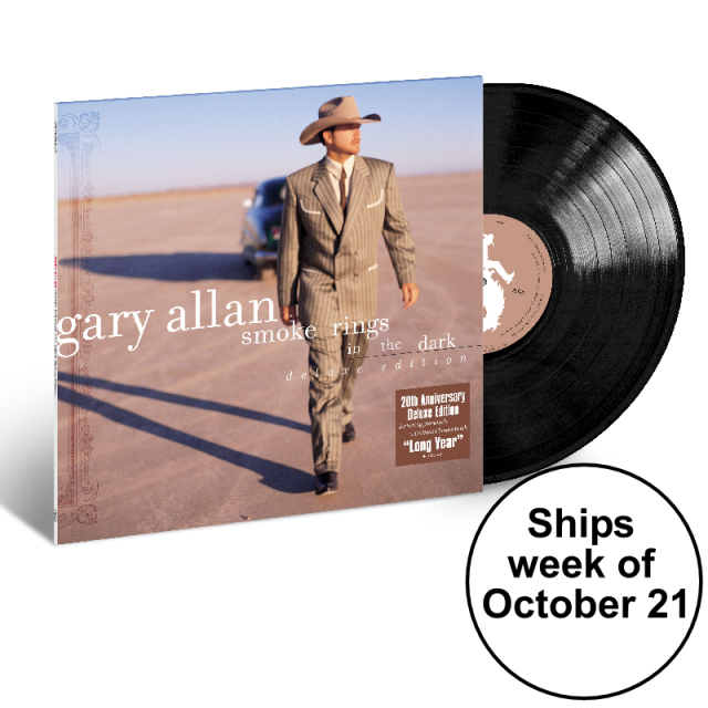 Gary Allan Black Vinyl- Smoke Rings in the Dark- PRESALE