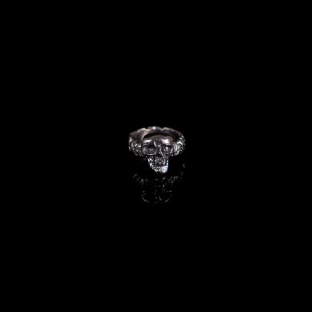 Gary Allan Oxidized Skull Ring